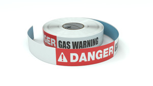 Danger: Gas Warning - Inline Printed Floor Marking Tape