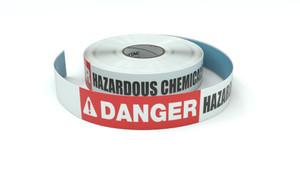 Danger: Hazardous Chemicals - Inline Printed Floor Marking Tape