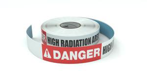 Danger: High Radiation Area - Inline Printed Floor Marking Tape