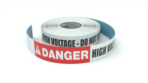 Danger: High Voltage - Do Not Enter - Inline Printed Floor Marking Tape