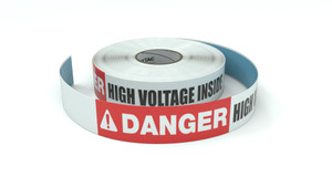 Danger: High Voltage Inside - Inline Printed Floor Marking Tape