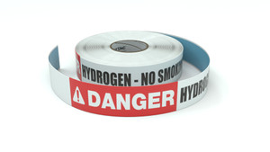 Danger: Hydrogen - No Smoking - Inline Printed Floor Marking Tape