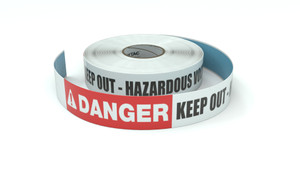 Danger: Keep Out - Hazardous Voltage - Inline Printed Floor Marking Tape
