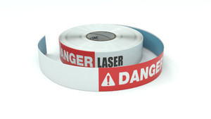 Danger: Laser - Inline Printed Floor Marking Tape