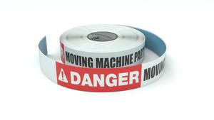 Danger: Moving Machine Parts - Inline Printed Floor Marking Tape