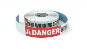 Danger: Men Working Below - Inline Printed Floor Marking Tape
