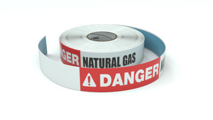 Danger: Natural Gas - Inline Printed Floor Marking Tape