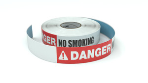 Danger: No Smoking - Inline Printed Floor Marking Tape