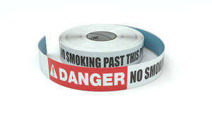 Danger: No Smoking Past This Point - Inline Printed Floor Marking Tape