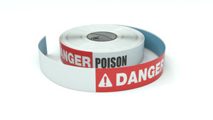 Danger: Poison - Inline Printed Floor Marking Tape