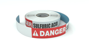 Danger: Sulfuric Acid - Inline Printed Floor Marking Tape