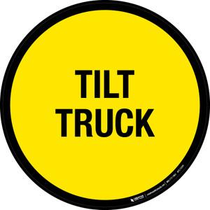 Tilt Truck Floor Sign
