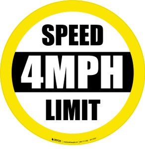 Speed Limit 4MPH Floor Sign