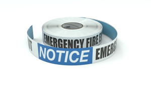 Notice: Emergency Fire Exit - Inline Printed Floor Marking Tape