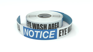 Notice: Eye Wash Area - Inline Printed Floor Marking Tape