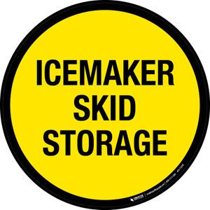 Icemaker Skid Storage Floor Sign