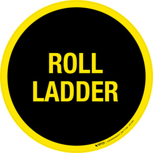 Roll Ladder Floor Sign