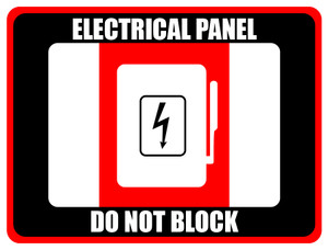 Electrical Panel - Do Not Block (Rectangle) - Floor Sign