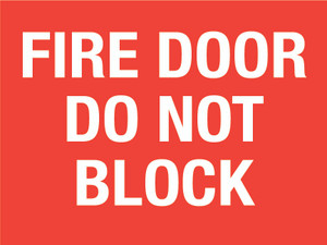 Fire Door Do not Block (Rectangle) - Floor Sign