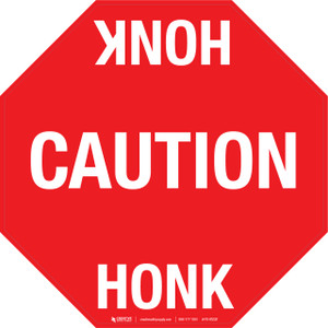 Caution Honk Floor Sign