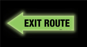 Glow: Exit Route Arrow