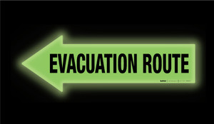Glow: Evacuation Route Arrow