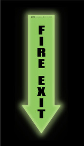 Glow: Fire Exit Arrow