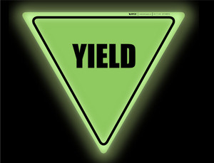 Glow: Yield - Floor Sign