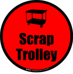 Scrap Trolley Floor Sign