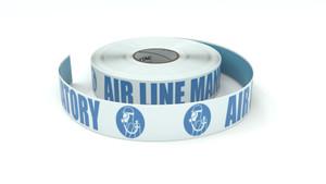 ANSI: Air Line Mandatory - Inline Printed Floor Marking Tape