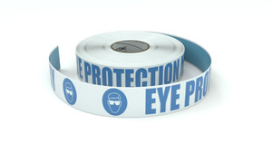 ANSI: Eye Protection Mandatory - Inline Printed Floor Marking Tape