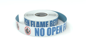 ANSI: No Open Flame Beyond This Point - Inline Printed Floor Marking Tape