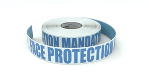 ANSI: Face Protection Mandatory Beyond This Point - Inline Printed Floor Marking Tape