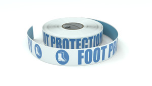 ANSI: Foot Protection Mandatory - Inline Printed Floor Marking Tape