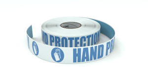 ANSI: Hand Protection Mandatory - Inline Printed Floor Marking Tape