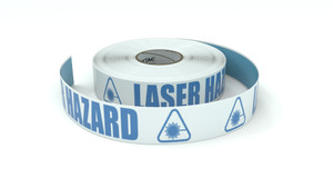 ANSI: Laser Hazard - Inline Printed Floor Marking Tape