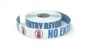 ANSI: No Entry Beyond This Point - Inline Printed Floor Marking Tape