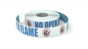 ANSI: No Open Flame - Inline Printed Floor Marking Tape