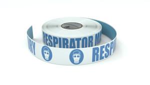 ANSI: Respirator Mandatory - Inline Printed Floor Marking Tape