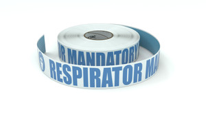 ANSI: Respirator Mandatory Beyond This Point - Inline Printed Floor Marking Tape