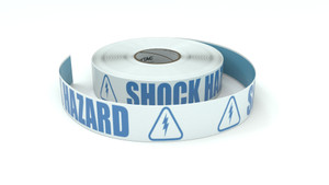 ANSI: Shock Hazard - Inline Printed Floor Marking Tape