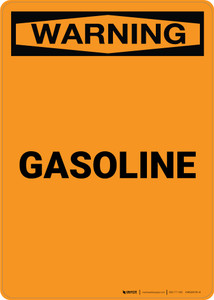 Warning: Gasoline - Portrait Wall Sign