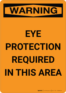 Warning: PPE Eye Protection Required - Portrait Wall Sign