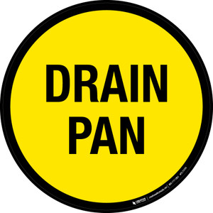 Drain Pan Floor Sign