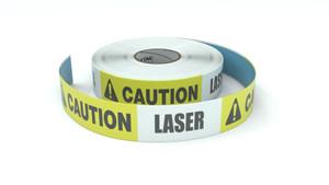 Caution: Laser - Inline Printed Floor Marking Tape