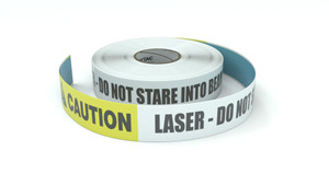 Caution: Laser - Do Not Stare into Beam - Inline Printed Floor Marking Tape