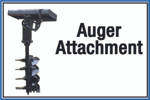 """Wall Sign: (United Rentals Logo) Auger Attachment - 12""""x18"""" (Peel-and-Stick Permanent Adhesive)"""