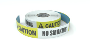 Caution: No Smoking - Inline Printed Floor Marking Tape
