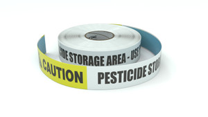 Caution: Pesticide Storage Area Use PPE - Inline Printed Floor Marking Tape