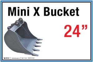 "Wall Sign: (United Rentals Logo) Mini X Bucket 24"" - 12""x18"" (Peel-and-Stick Permanent Adhesive)"